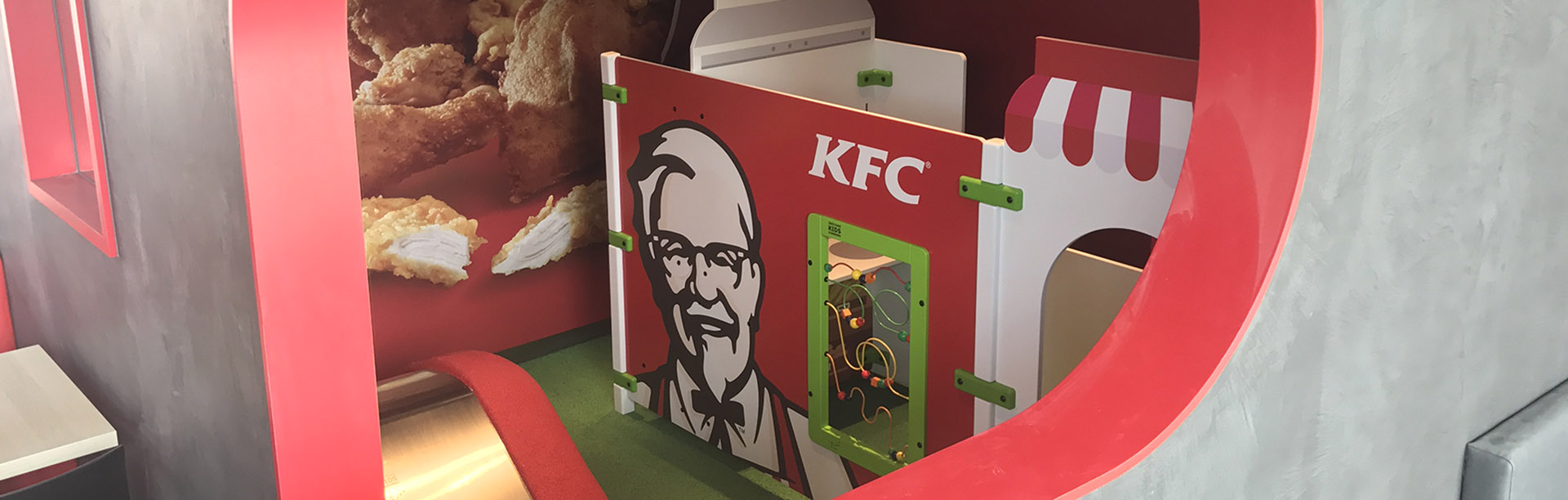 this image shows a kids corner at KFC