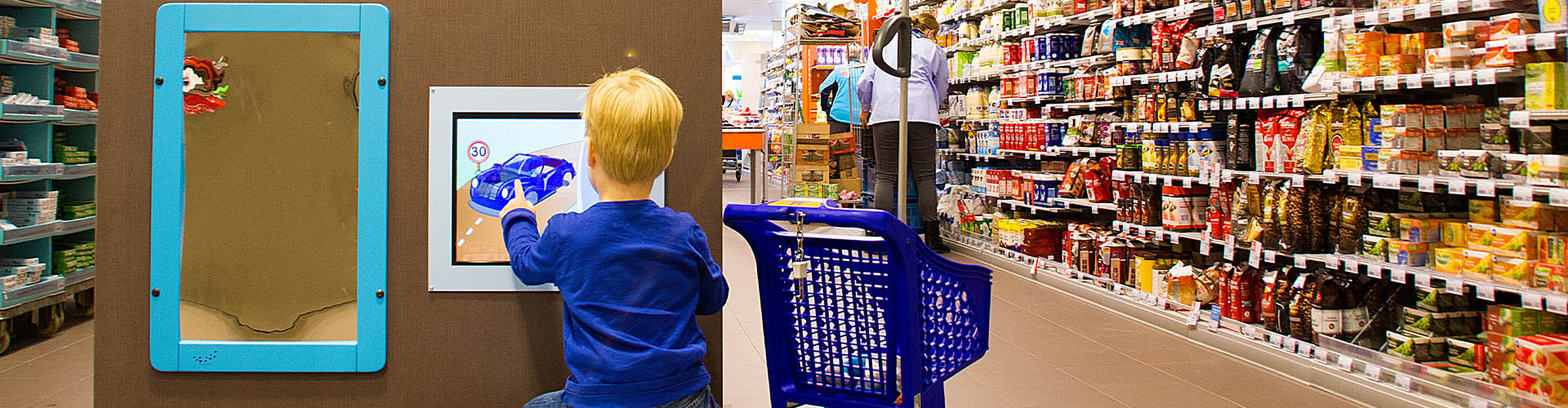 this image shows a kids corner in the AH supermarket