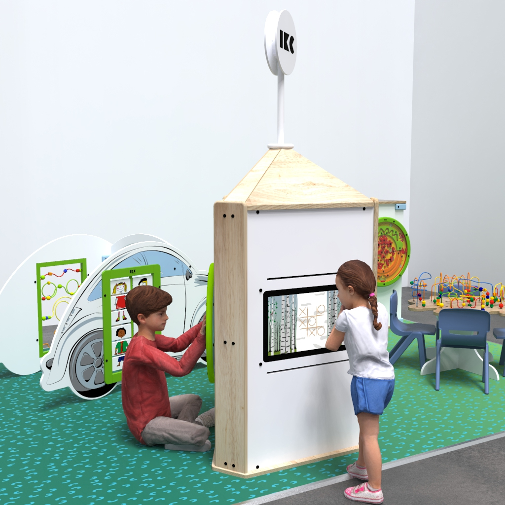 Quest'imagine mostra sistema di gioco interattivi Playtower touch wood