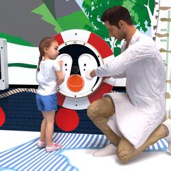 Quest'imagine mostra giochi da parete Happy penguin