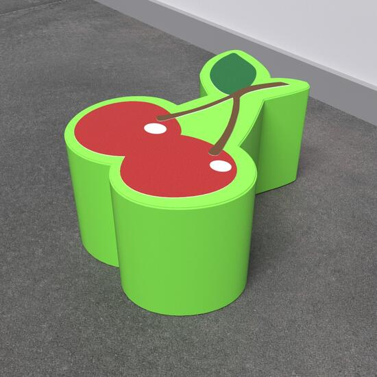 Op deze afbeelding staat een softplay Cherry