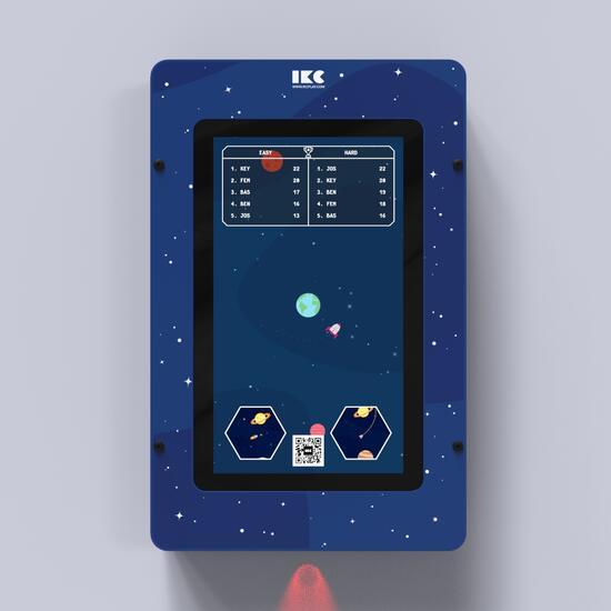 Op deze afbeelding staat een interactief speelsysteem Delta 21 inch Orbits