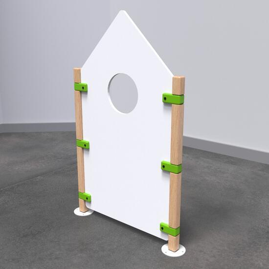 Op deze afbeelding staat speelhek Fence roof