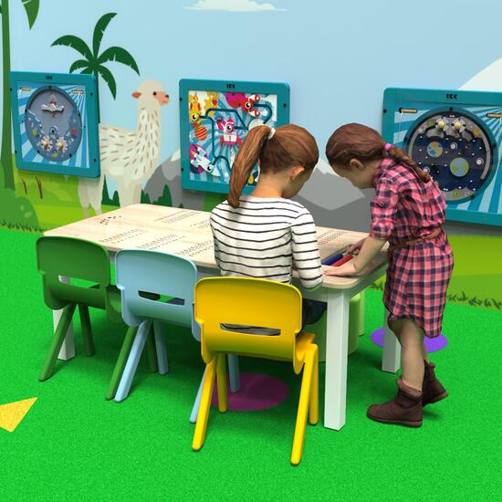 This image shows a kids table | IKC kids furniture
