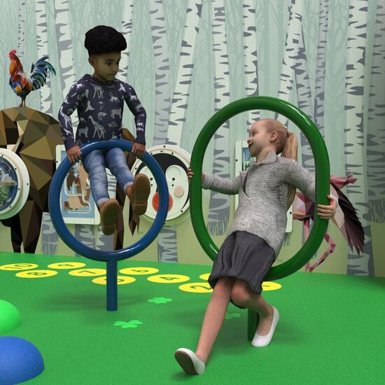 this image shows the climbing element Opaal for the play floor