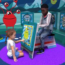 This image shows a play system spacescouter