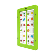 memory spel voor aan de wand met draaiende blokjes   IKC wandspel muurspel